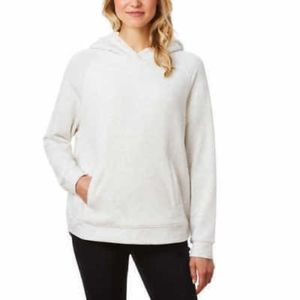 32 Degrees Heat Women White Lined Pullover Hoodie